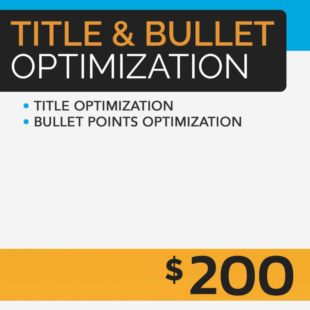 Title and Bullet Optimization Prime Label Studios