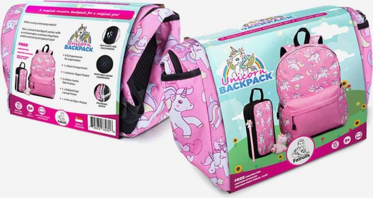 Beautiful Pink Unicorn Backpack